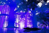 foto of mystique  - Aligators in a Mysterious Deep Jungle at Night 3D Artwork - JPG