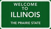 stock photo of illinois  - Illinois USA State Welcome to Highway Road Sign Illustration - JPG