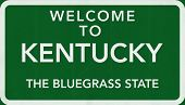picture of bluegrass  - Kentucky USA State Welcome to Highway Road Sign Illustration - JPG