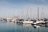 picture of larnaca  - Luxury Yachts resting at Larnaca marina in Cyprus - JPG