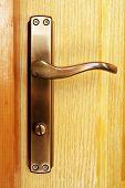 picture of door-handle  - Wooden door handle - JPG
