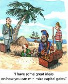 image of stolen  - Cartoon of pirates with stolen treasure - JPG