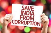 foto of bannister  - Save India From Corruption card with bokeh background - JPG