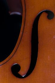 picture of cello  - detail close up image of a classical instrument cello - JPG