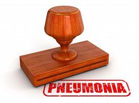 stock photo of pneumonia  - Rubber Stamp pneumonia - JPG