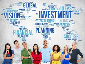 stock photo of budget  - Investment Global Business Profit Banking Budget Concept - JPG