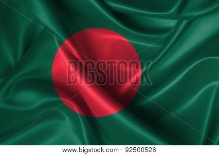 Wavy Flag Of Bangladesh