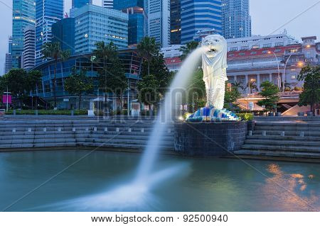 View of Merlion Statue