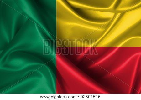 Wavy Flag Of Benin