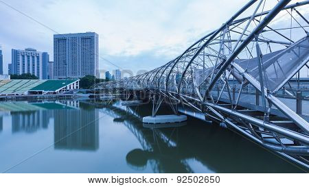 The Helix Bridge, Marina bay sands morning