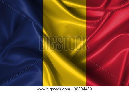 Wavy Flag Of Chad