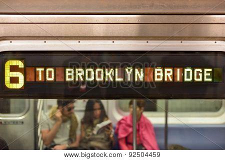 Subway At Brooklyn Bridge Station, New York