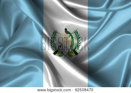 Wavy Flag Of Guatemala