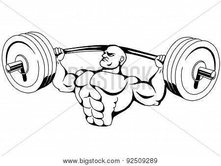 bodybuilder training with big weights