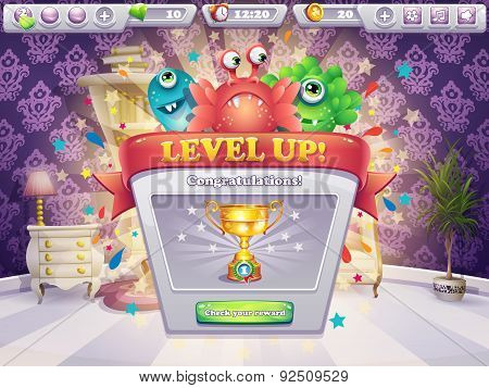 Example Of The Game Window Receiving Award
