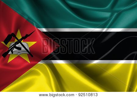 Wavy Flag Of Mozambique