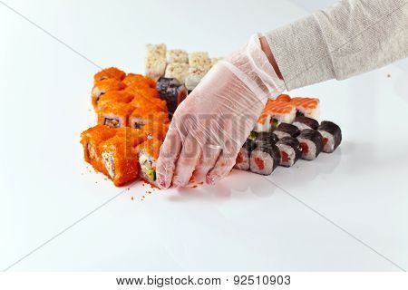 Table With Sushi