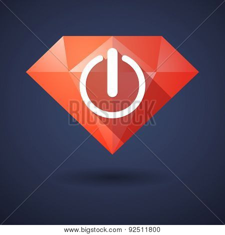 Diamond Icon With An Off Sign