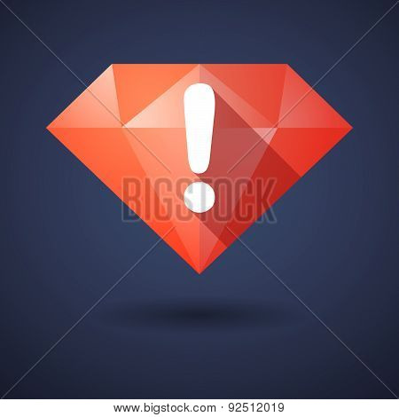 Diamond Icon With An Exclamation Sign