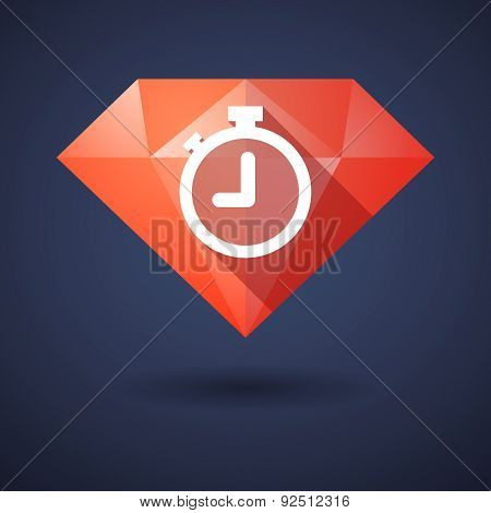 Diamond Icon With A Timer
