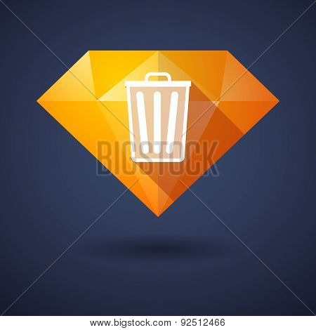 Diamond Icon With A Trash Can