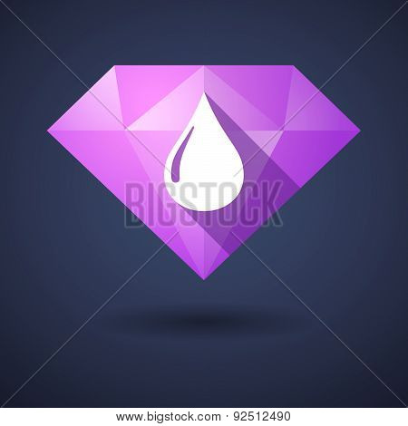 Diamond Icon With A Fuel Drop