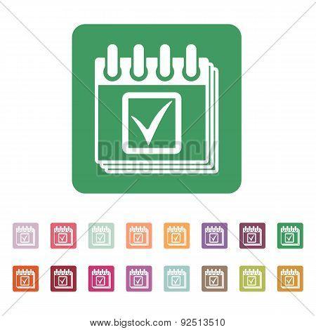 The Calendar Icon. Calendar Symbol.