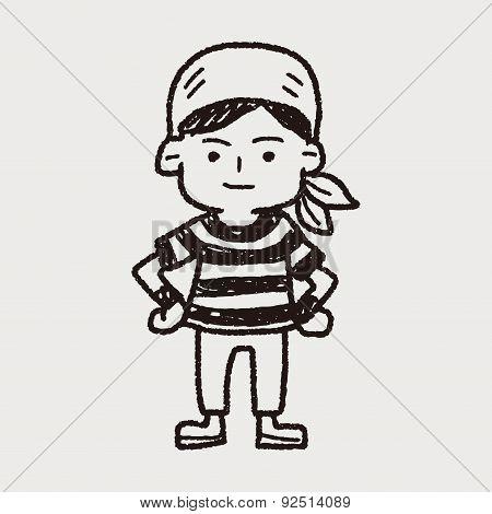 Pirate Sailor Doodle