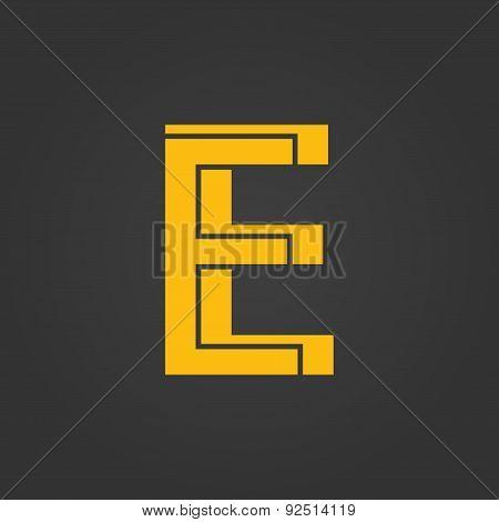 Letter E.