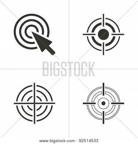 Set Of Simple Target Icon