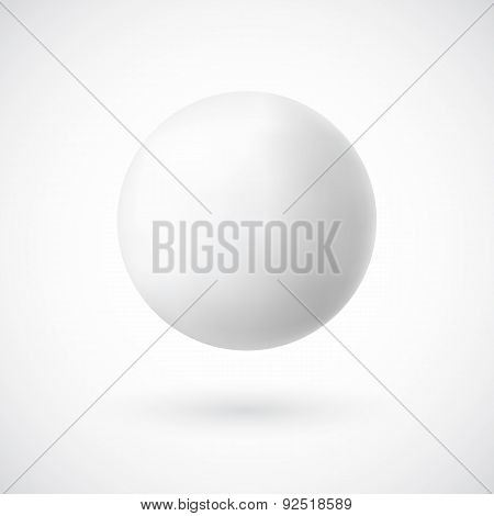White sphere on white background. Vector illustration
