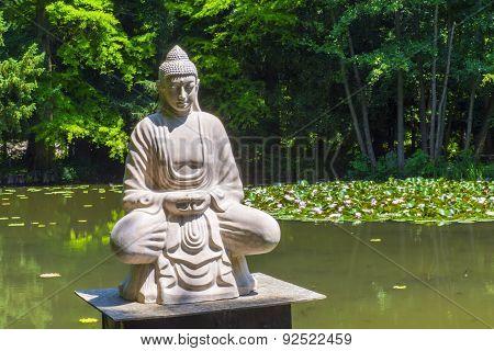 Buddha And The Lotus Lake