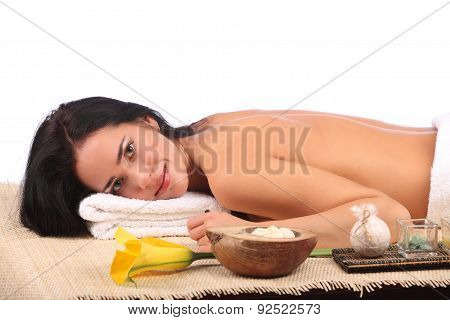 Young Woman Getting A Massage In Spa