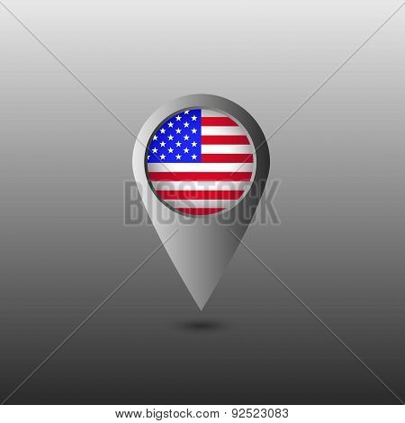 USA flag marker