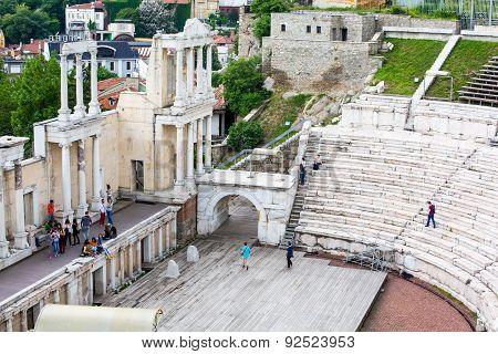 Ancient Amphitheatre In Plovdiv, Bulgaria