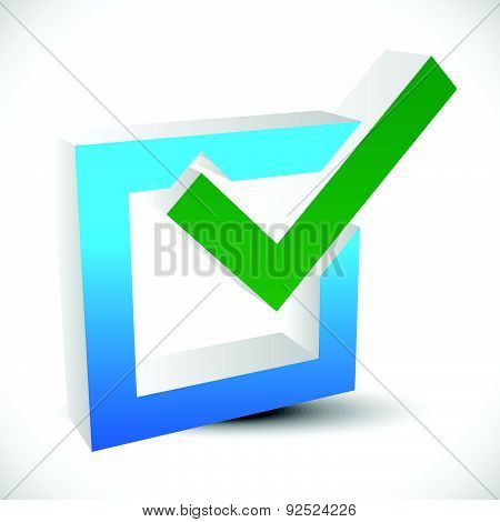 Check Mark, Check Box Vector Icon. Editable