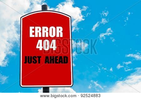 Error 404 Just Ahead