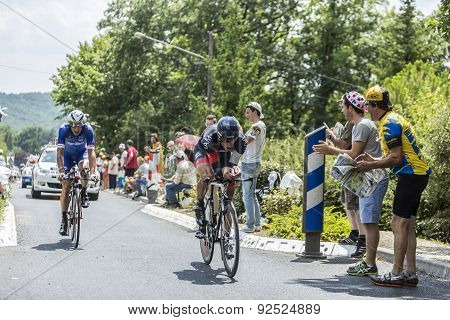 Two Cyclist During A Time Trail - Tour De France 2014