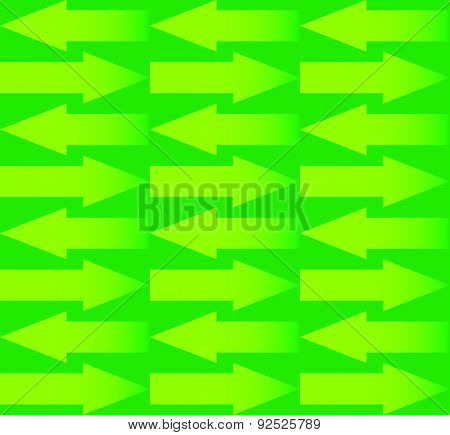 Repeatable Arrow Pattern With Arrows In Opposite Directions. Vector.