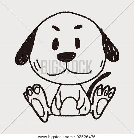 Chinese Zodiac Dog Doodle Drawing