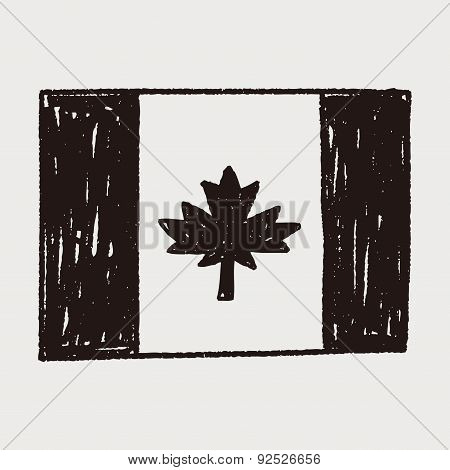 Canada Flag Doodle
