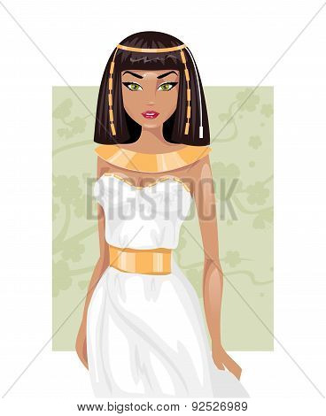 Egyptian Woman. Vector Illustration