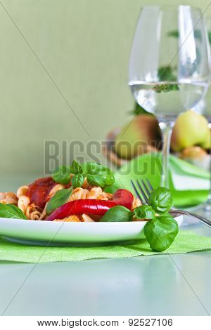 Noodles With Basil And Chili