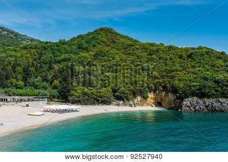 Beautiful Mega Ammos Beach At Syvota,greece