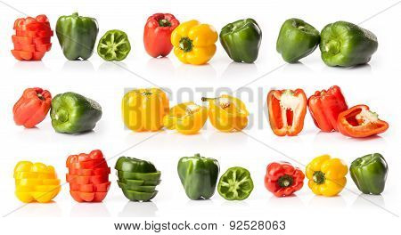 composite of fresh bell pepper