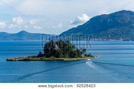 The Beautiful Pontikonisi Island,corfu,greece