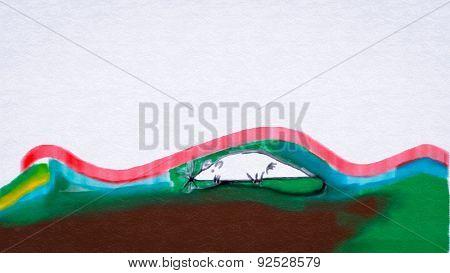 Naive Painting.landscape.