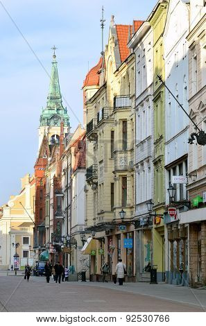 Main street in Torun (Poland).