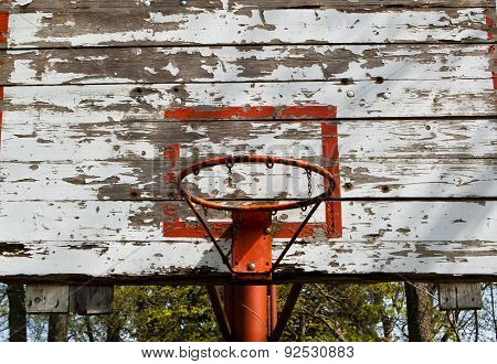 Old basketball backboard