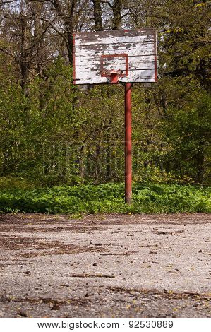 Forsaken basketball court